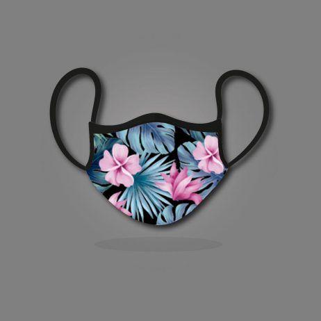 mascarilla deportiva flower