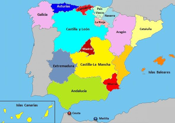 mapa carreras en España